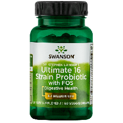 Swanson Dr. Stephen Langer's Ultimate 16 Strain Probiotic with FOS 60 Caps