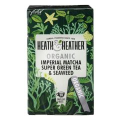 Heath & Heather Organic Super Green Tea Matcha & Seaweed 20 Tea Bags