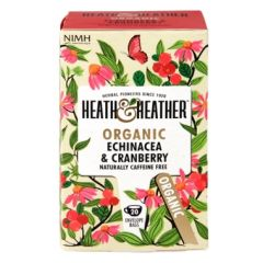 Heath & Heather Organic Echinacea & Cranberry 20 Tea Bags