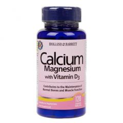 Holland & Barrett Calcium and Magnesium with Vitamin D3 120 Tablets BBE: DEC 2020