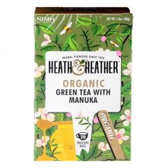 Heath & Heather Organic Green Tea with Manuka 20 Tea Bags