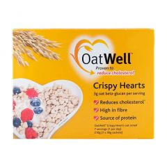 OatWell Crispy Hearts with Oat Beta-Glucan 7 Day Supply 7x30g BBE: NOV 2020