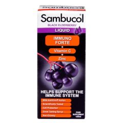 Sambucol Immuno Forte Black Elderberry Formula 120ml BBE: MAY 2021