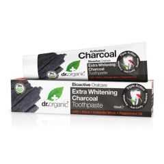 Dr Organic Charcoal Toothpaste 100ml BBE: APR 2021