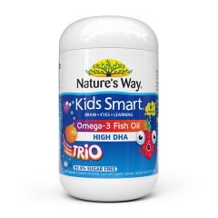 NATURE'S WAY KIDS SMART BURSTLETS OMEGA-3 FISH OIL TRIO 60S