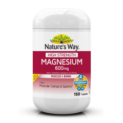 NATURE'S WAY HIGH STRENGTH MAGNESIUM 150S BBE: Oct 2021