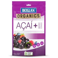BIOGLAN SUPERFOODS ORGANIC ACAI + BERRY POWDER 50G