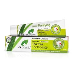 Dr Organic Tea Tree Toothpaste 100ml BBE: APR 2021