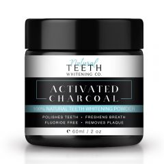 Natural Teeth Whitening 100% Natural Activated Charcoal Powder - 60ml (16 day treatment) BBE: NOV 2020