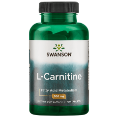 Swanson L-carnitine 500 Mg 100 Tabs BBE: MAY 2021