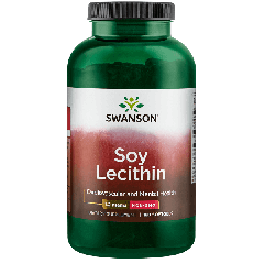 Swanson Soy Lecithin Non-gmo 1200 Mg 180 Softgels BBE: JUL 2021
