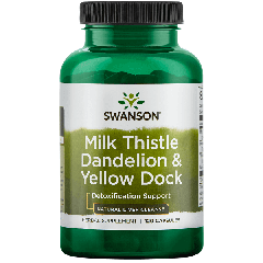 Swanson Milk Thistle, Dandelion & Yellow Dock