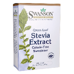 Swanson Green Leaf Stevia Extract 100 packets
