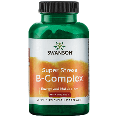 Swanson Super Stress B Complex With Vitamin C 100 Caps