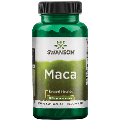 Swanson Maca 500 Mg 100 Caps BBE: JUN 2021