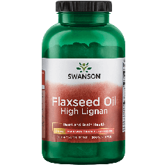 Swanson Efa Flaxseed Oil High Lignan 200 Caps BBE: FEB 2021
