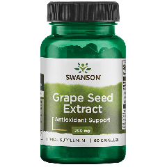 Swanson Herb Grape Seed Extract 200mg 60 Caps BBE: JUL 2021