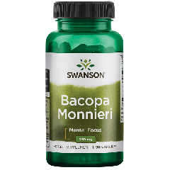 Swanson Herb Bacopa Monnieri Extract 250mg 90 Caps BBE: APR 2021