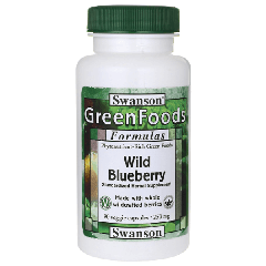 Swanson Greens Wild Blueberry 250mg 90 Veg Cap