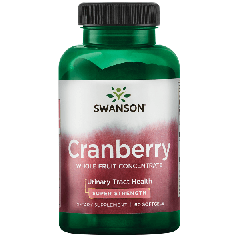Swanson Cranberry Whole Fruit Concentrate - Super Strength 60 Softgels BBE: APR 2021
