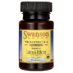 Swanson Ultra Lutein & Bilberry 60 Softgels