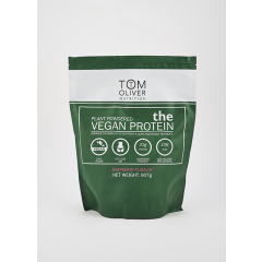 Tom Oliver Nutrition Raspberry Vegan Protein Powder